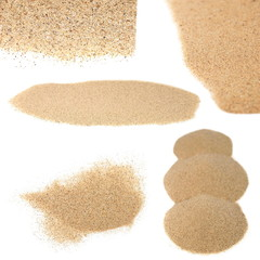 pile desert sand isolated on white backgrounds