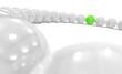 3D Green Ball Focus 1