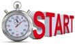Stoppuhr Start