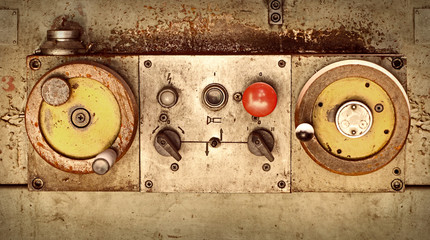 Control panel of old machine