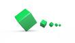 Würfelfolge Grün Weiß 4
