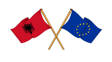 European Union and Albania alliance and friendship