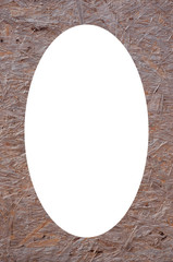 Dirty background texture frame and isolated oval