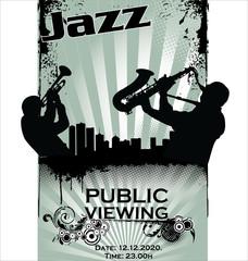 Jazz musician silhouettes