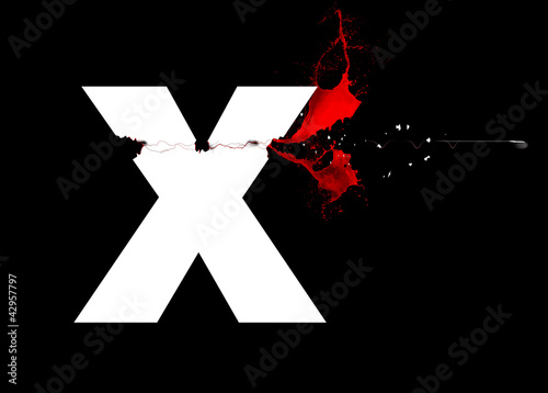 X - Lettre - Trajectoire de balle
