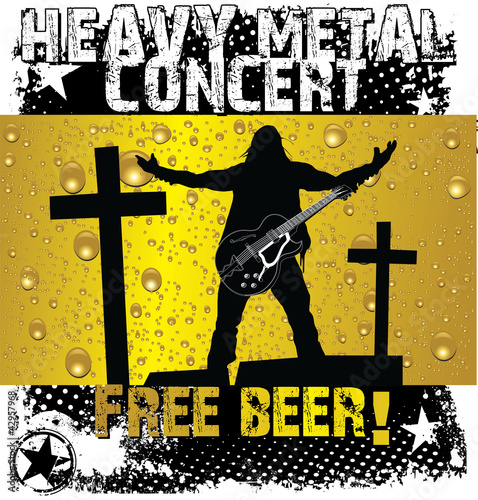 Heavy metal concert - free beer