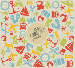 Vector summer pattern / background