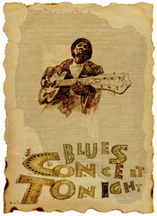 bluesman with guitar