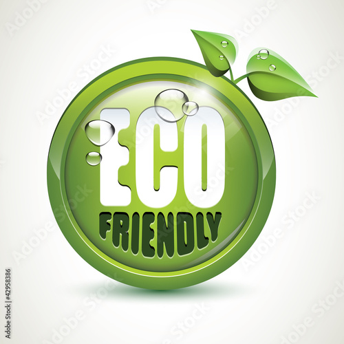 ECO friendly - glossy icon