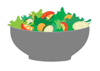 Bowl with fresh salad
