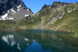 reflection on glacial lake in Posets-Maladeta