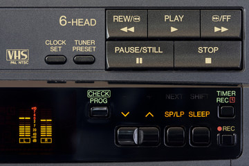 Control Panel and window display of a video recorder
