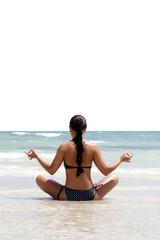 Yoga Übungen am Strand