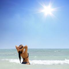Schöner Strandurlaub