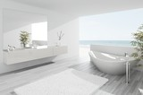 Exclusive Luxury Bathroom Interior by the sea | ocean