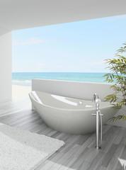 Exclusive Luxury Bathroom Interior by the sea | ocean