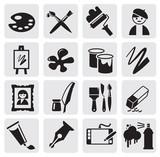 Fototapety Icons set arts