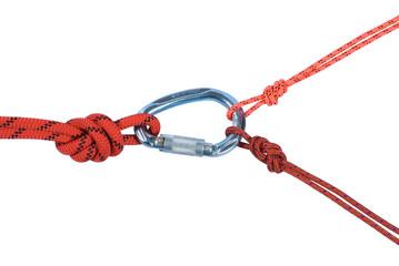 Climbing equipment - rope, carabiner