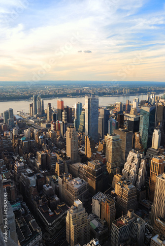 Foto op Aluminium New York Hudson River skyline aerial