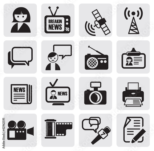 Reporter icons set