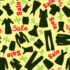 Pattern of clearance sale in the clothing store