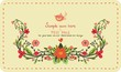 Invitation card with flowers