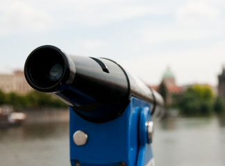 telescope overlooking for Prague