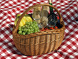 Basket with food for picnic