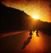 Leinwandbild Motiv Motorcycle ride
