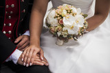 Beautiful white bridal bouquet