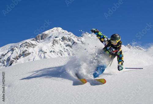 Leinwandbilder,skier,skilaufen,kind,teenager