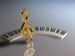 Tastatur Violinschlüssel C
