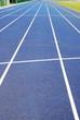 Laufbahn mit Linien blau