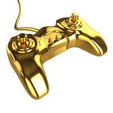 3d Golden Videogame Joystick poster