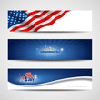 Independence day banner background, illustration