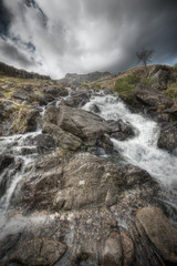 Welsh Mountain Waterfall