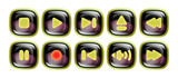 Digital Player Button Set – Black Dew