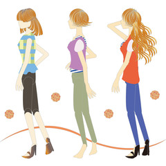 春夏の女性 spring and summer fashion