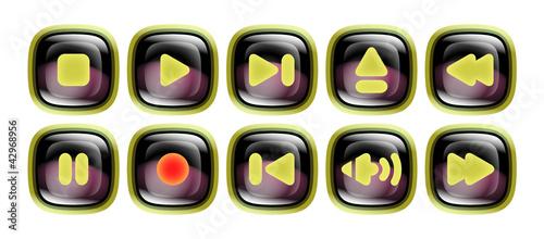 Digital Player Button Set – Black Dew