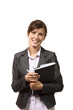 beautiful businesswoman portrait with agenda