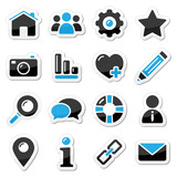 Web and internet icons set