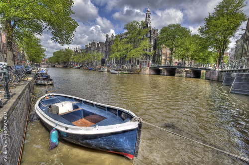 Rowing Boat in Amsterdam