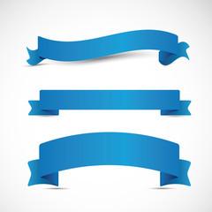 Three blue ribbons