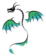 Tattoo dragon skeleton
