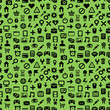 vector seamless pattern with technology icons