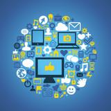 Fototapety Social media concept