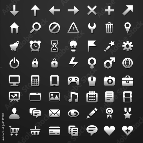 Set of 56 vector icons for software