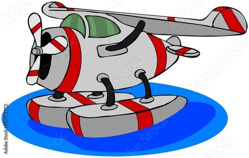 泽浮动漫画翅膀运输飞机