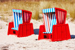 Beach chair on the Baltic Sea coast