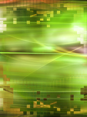 Digital green fractal background